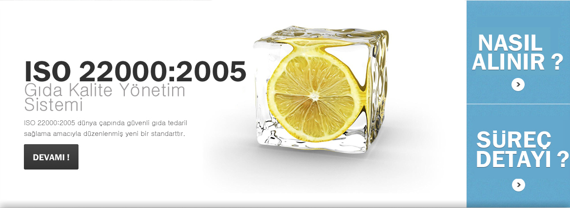 ISO 22000 Gıda Kalite Yönetim Sistemi